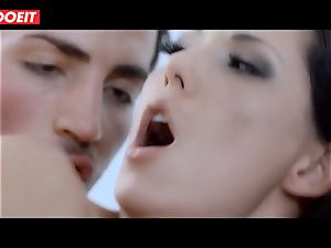 Spanish porn industry star stunner Alexa Tomas gets jism in hatch