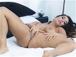 Eva Lovia toying with her soft humid fuckbox