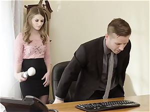 abnormal boss pounds magnificent Office secretary Alice March