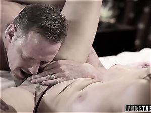 unspoiled TABOO 18yo Ashley Sins Against mummy to sate dad