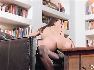 Abella Danger deep multiracial plow with big black cock