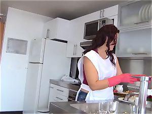 OPERACION LIMPIEZA - Latina Ana Mesa gets torn up deep
