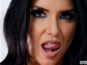 Romi Rain take a gigantic wood all the way down her gullet