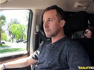 Monique Alexander blows a big penis in the car