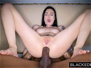 BLACKEDRAW Canadian gf takes yam-sized bbc in her bootie