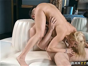wonderful blond Alexis Fawx poked doggie