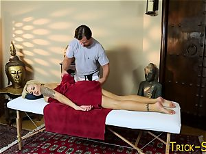 big-titted honey penetrates masseur