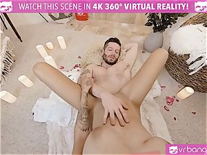 VR pornography - Thanksgiving Dinner becomes crazy pummeling