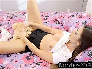 Nubiles-Porn torrid daughter sploogs On Daddy's gigantic penis