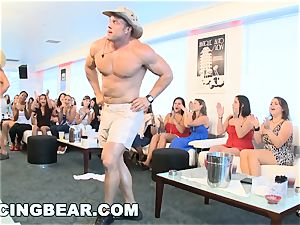 CFNM motel soiree with fat shaft male Strippers