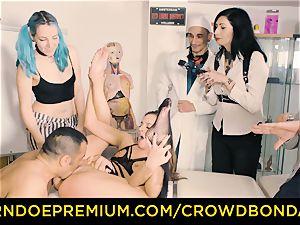 CROWD bondage submissive Amirah Adara very first time bondage & discipline
