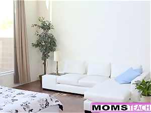 MomsTeachSex - molten Step-Mom And teenager Get dirty facial