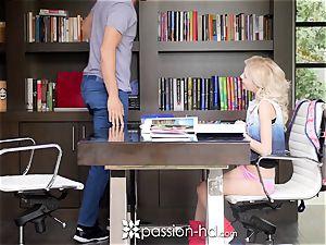 PASSION-HD ash-blonde Piper Perri tears up her huge dick professor