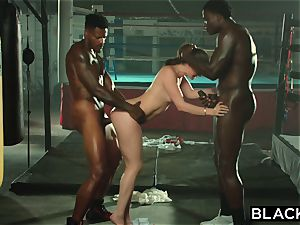 BLACKED Tori black Is lubricated Up And dominated By two BBCs