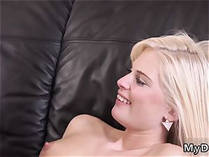 mummy seduces youthfull wood ultra-kinky platinum-blonde wants to try someone lil' bit more