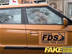 faux Driving school Jasmine Jae downright naked intercourse in car