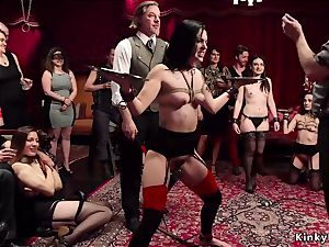 double flog and anal invasion bang at swingers soiree