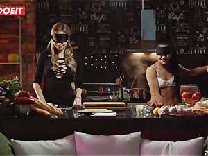 LETSDOEIT - fuck-a-thon Cooking With honeys Apolonia and Angel