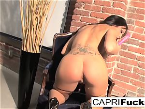 Capri Plays With Her outstanding titties And tight wet cunt