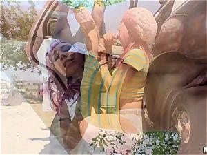 nasty Aidra Fox vag tucked nads deep by policeman