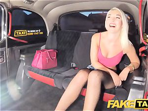 faux cab stellar light-haired in cock-squeezing jeans shorts
