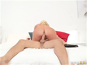 My wife's lustful giant backside sista Nicolette Shea riding my cock in the matrimonial couch