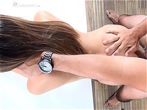 nice stunner Melissa Moore audition her vagina pie