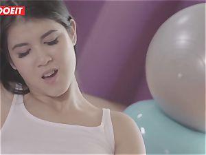 LETSDOEIT - insatiable girl/girl teens Get horny At The Gym