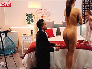 LETSDOEIT naughty Artist tears up super-hot Spanish couple