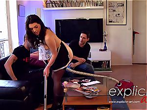 three way rectal and double penetration for French stunner