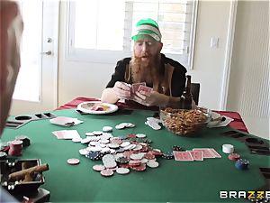 Sarah Jessie tearing up her husbands poker friend