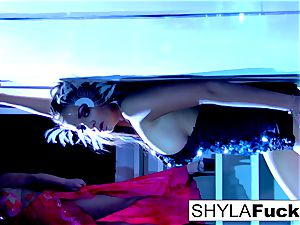 big-chested Nika complies Shyla's directives