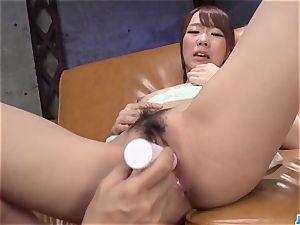 Hitomi Oki severe penetrated and made to gulp jizm