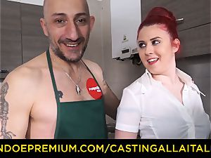 casting ALLA ITALIANA - hardcore assfuck sex with first-timer