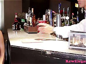 Abbie plumbs the barkeeper