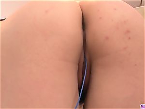 Rinka Aiuchi smashed in the pussy and made to swallow