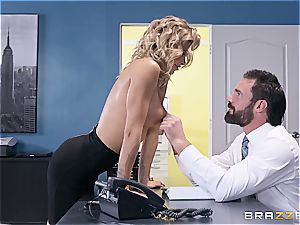 exceptionally sizzling session with a huge-titted towheaded secretary