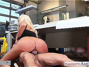 Summer Brielle at the office down for a superb bang-out