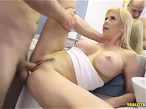 impressive sex with mischievous massive bosoms cougar Alexis Fawx and her stepson