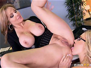 chief Julia ann smashes her splendid assistant Olivia Austin