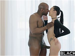 fabulous nubile style blogger gets her rump gaped by a big black cock