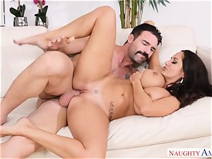 Ava Addams drilled on the bed
