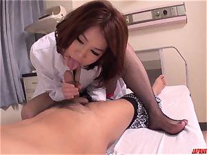 lovemaking with steamy japanese cougar Erika Nishino