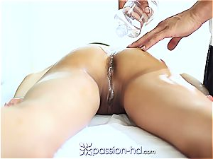 handsome Latina Chloe Amour ejaculates hard after massage