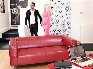 exposed casting - drizzling Czech babe in super-steamy audition