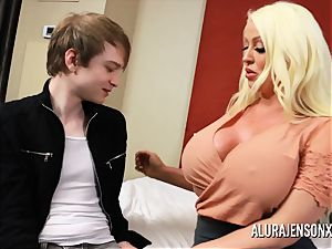 cheating threesome with large titty superstar Alura Jenson