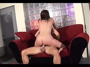 Rampant Gianna Michaels rides her cootchie on a immense pink cigar