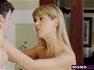 huge-boobed mummy Gets torrid Mother's Day three-way! S8:E4