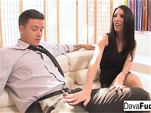 audition sofa with Bradley that completes with a creampie