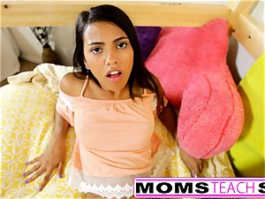 MomsTeachSex - mummy And daughter-in-law play With daddy Gone
